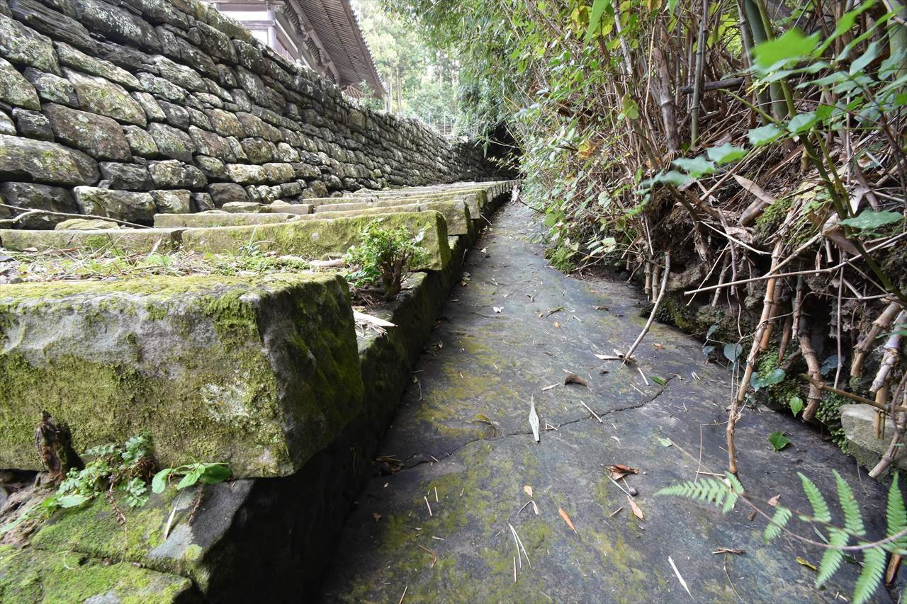 草堂寺横の水路